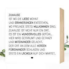 Zuhause Einzigartiges Holzbild 15x15x2cm Zum Hinstellenaufhängen