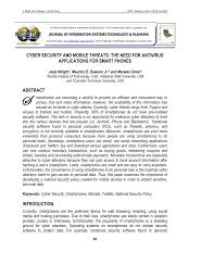 Pdf Cyber Security And Mobile Threats The Need For Antivirus