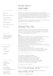 Resume For Team Leader In Bpo Sample Resume Team Leader Team Lead Responsibilities Sample