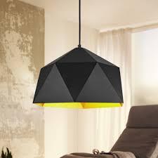 Design Hängelampe Hexagon ø 38cm Schwarzgold Deckenlampe