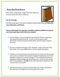 Book in the bag book report