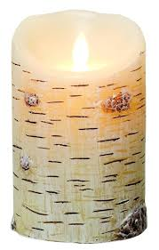 luminara indoor outdoor flameless candle with timer birch bark candles unscented moving flame luminara flameless candles timer the candle outdoor