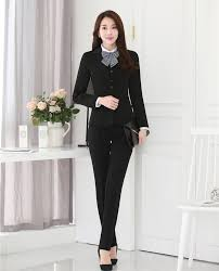 high quality black business suits women buy cheap black business formal black blazer women business suits pant jacket waistcoat 3 piece set office