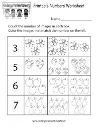 Numbers Kindergarten Worksheets Math Free Comparing Kids 1-5 1-30 ...