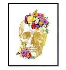 Gothic Floral Skull Decor - Human Anatomy Wall Art ... - Amazon.com