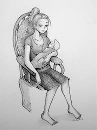 Pictures Of Mother Holding Her Baby Drawing Www Kidskunst Info