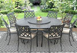 patio table lazy susan real cast aluminum outdoor patio dining set 8 dining chairs inch round patio table lazy susan
