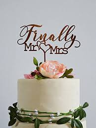 Finally Mr And Mrs Wedding Cake Topperswedding Cake Toppers Rustic