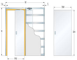 eclisse righe single glass pocket door complete package 125mm wall thickness