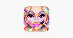 rainbow unicorn candy salon on the app