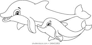 Cute dolphins jumps from th. Dolphin Coloring Pages Ideas Whitesbelfast