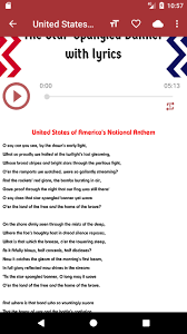 United states national anthem for ...