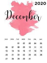 December 2020 Desktop Calendar HD Wallpaper