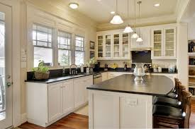 Classic Kitchen Design With Black Honed Granite Kitchen Countertops Picture  Ideas, Frosted Glass Mini Pendant