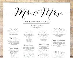 Sample Wedding Seating Chart Template Free Online Maker
