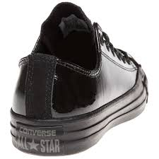 new womens converse black all star ox patent leather