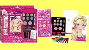 barbie princess makeup artist set unboxing kids how to make up diy you