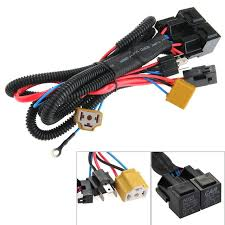 aliexpress com buy h4 9003 headlight booster wire harness h4 9003 headlight booster wire harness connector relay fuse socket ceramic fused socket relay wiring