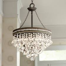 candle chandeliers non electric fresh regina olive bronze 19 wide crystal chandelier u2231 lampsplus