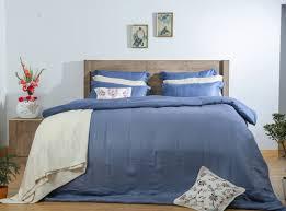 mrs eucacel 400 tpi blue stripe bed sheets