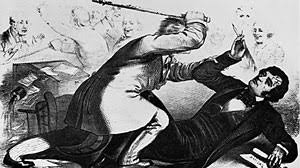Image result for image of preston brooks beating sumners