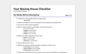 Free Printable Moving House Checklist Dont Miss Anything