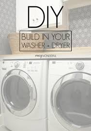 Washer Dryer Cabinet diy built in washer dryer crazy wonderful 5814 by uwakikaiketsu.us