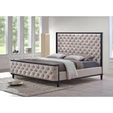 luxeo kensington khaki queen upholstered bedluxqcus  the