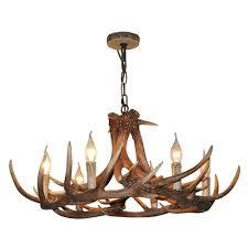 lnc rustic resin deer horn antler chandelier