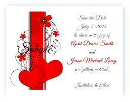 Red Save The Date Cards Details About 100 Personalized Custom Red Heart Swirl Bridal Wedding Save The Date Cards