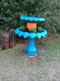 Garden Design Spray Paint Bird Bath This Bird Bath Had A Leak In It So We Took It