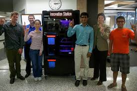 Vending Machines Austin Magnificent Young Minds Nourished With 48D Printing Vending Machine At UT Austin