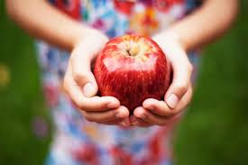 apple food. make an easy craft for kids apple food