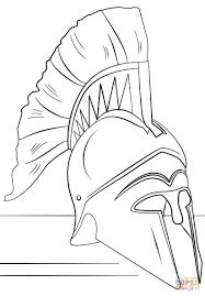 Roman Soldier Coloring Page Helmet Free Printable Pages Hoofardus