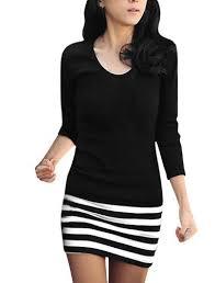 Allegra K Clothing Size Chart Aesthetic Official Allegra K Ladies Scoop Neck Stripe