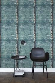 Bolcom Estahome Behang Metalen Platen Turquoise En Roest Bruin