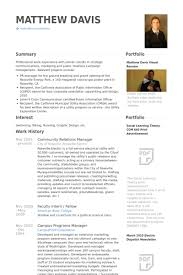 Community Relations Manager Resume Samples - Visualcv Resume Samples ...