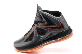 lebron mens shoes. lebron james 10 x charcoal total orange black mens shoes dunk