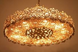 crystal glass chandelier by palme walter for palwa 1960s