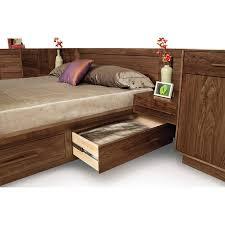 Built Bedroom Furniture Moduluxe Moduluxe Storage Bed With Panel Headboard Built Bedroom Furniture D