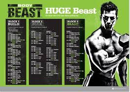 huge beast workout calendar schedule