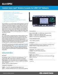 Green Light Wireless Gla Expex Crestron Green Light Wireless Expander For Infinet