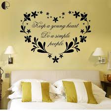 fashionable heart wall decor simple design keep a young stickers removable decal art diy with