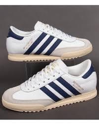 adidas beckenbauer trainers white navy gold