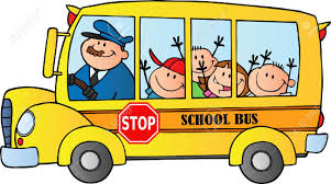 Happy Children Sur Autobus Scolaire Clip Art Libres De Droits