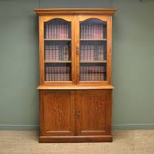 english antique display cabinet. Superb Quality Gillows Antique Solid Oak Bookcase / Cupboard English Display Cabinet -