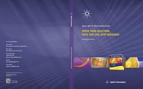 Gc Column Selection Guide Cover