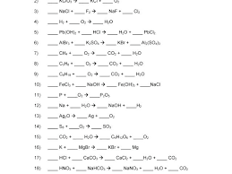 balancing equations practice worksheet answers chemical 1 by chemistry worksheets with nuclear summer answe