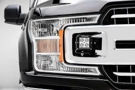 2018 F150 Led Lights Zroadz Oem Grille Mounting Kit Black 2018 2019 Ford F 150 Xlt Includes Two 3 Inch Led Light Pods