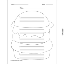 hamburger essay template walder education hamburger essay template enlarge view